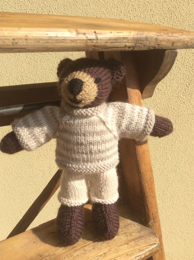 Bubu-Orsetto in lana realizzato a maglia.Imbottitura in kapok.