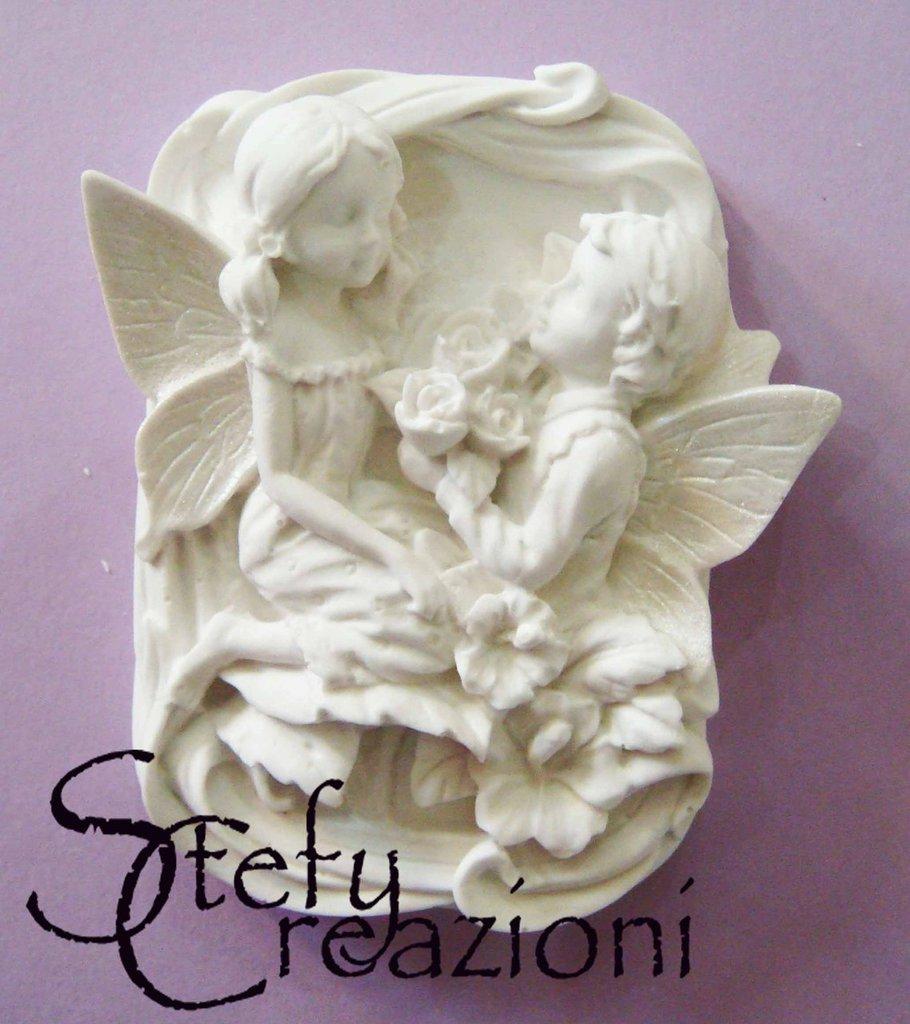 Angeli Amanti in Polvere di Ceramica
