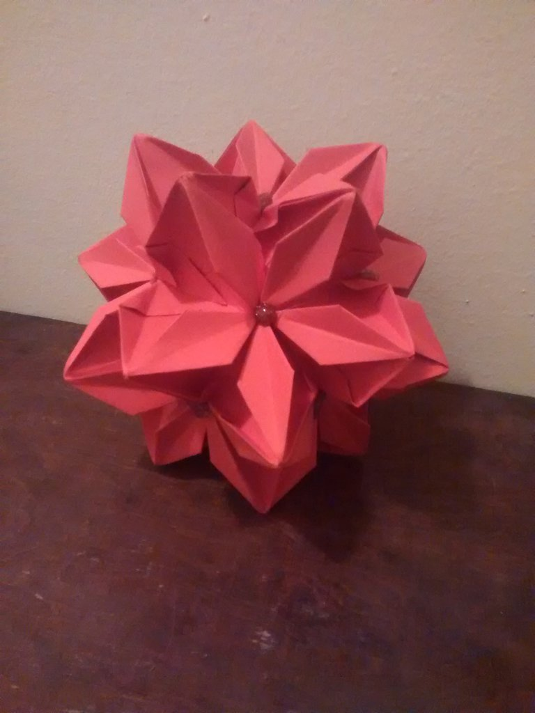 Kusudama, decorazione natalizia, palla di natale, decorazioni per l'albero