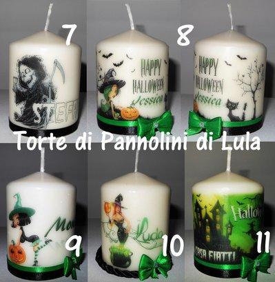 Decorazione Halloween idea regalo candela laccata nome disegno personalizzati