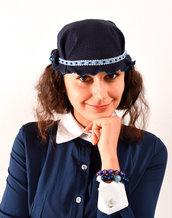 cappello invernale blu anni 30