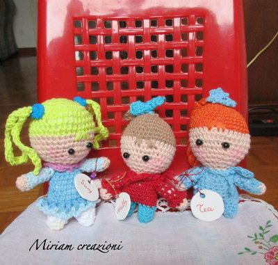 Tre Bamboline Amigurumi