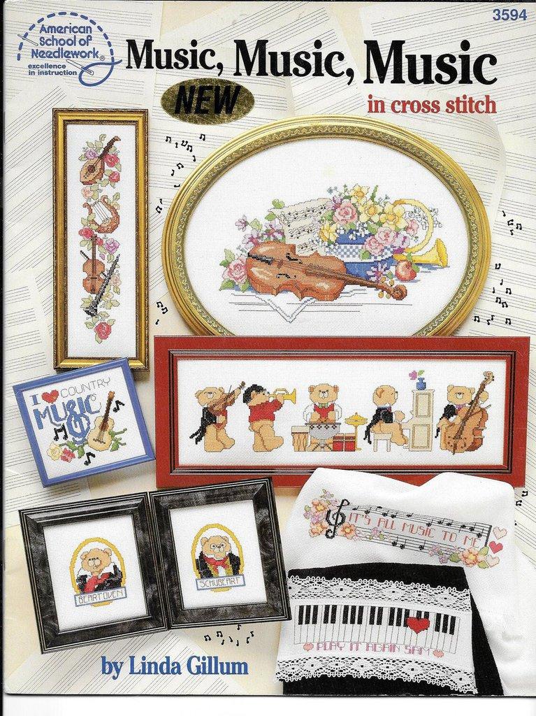"""Libretto Punto croce """"MUSIC"""""""