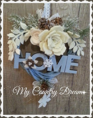"Ghirlanda Shabby ""Winter Dream"""
