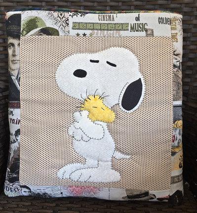 cuscino quillow Snoopy - un cuscino con dentro un plaid