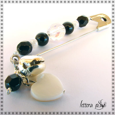 """Campanilla Black & White"" - accessorio spilla"