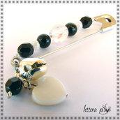 """""""Campanilla Black & White"""" - accessorio spilla"""