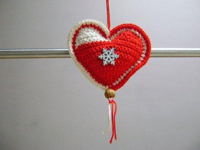 Addobbo Di Natale A Forma Di Cuore Amigurumi Alluncinetto Con Char