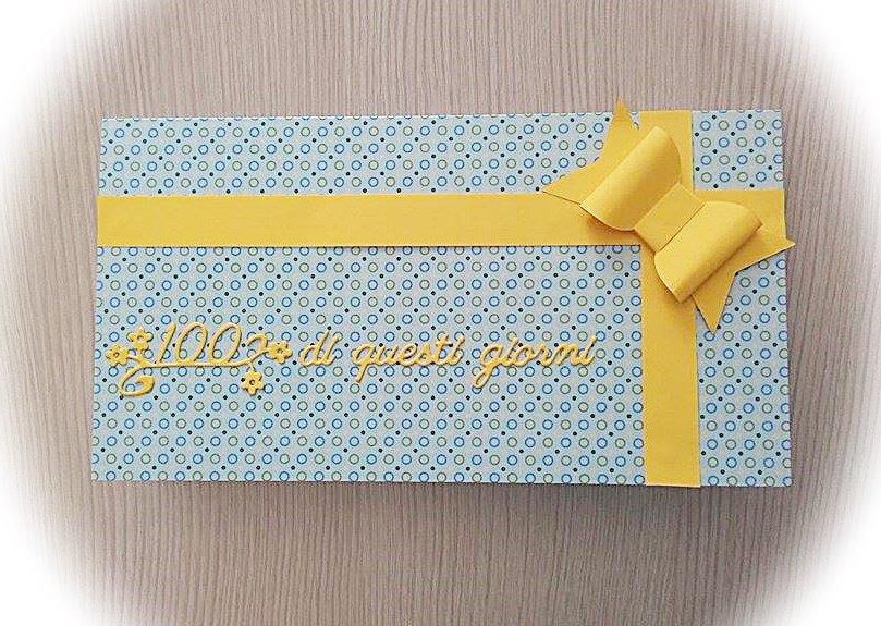 Biglietto di auguri porta coupon per compleanno