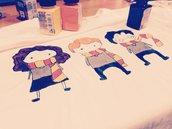 T-shirt disegnata a mano
