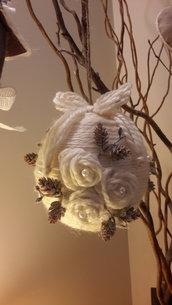 palla natalizia in tessuto