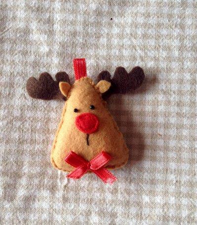 Il Natale in pannolenci: la Renna