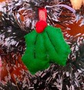 Il Natale in pannolenci: Agrifoglio