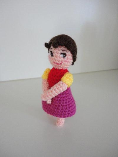 Heidi bambolina realizzata a mano