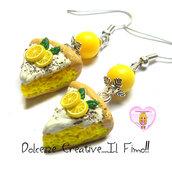 Orecchini torta al limone con glassa - idea regalo kawaii cake