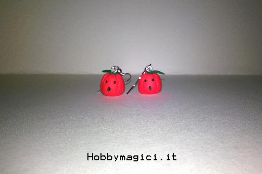 orecchini in fimo zucca halloween