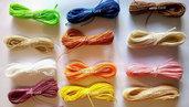 100 metri di filo cerato LINHASITA  1 mm di spessore, filo per macramè, filo brasiliano, 50 colori x 2 metri