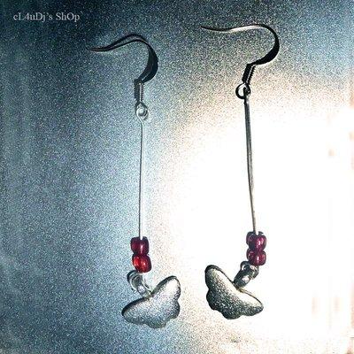 Orecchini pendenti Red Butterfly