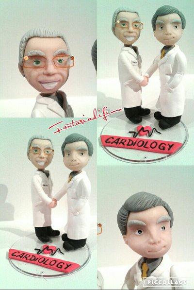 cake topper dottori personalizzato