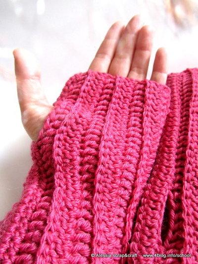 Pattern  spiegazione per arm warmers - guanti senza dita UNISEX a Crochet Uncinetto (idea regali di Natale e san valentino)