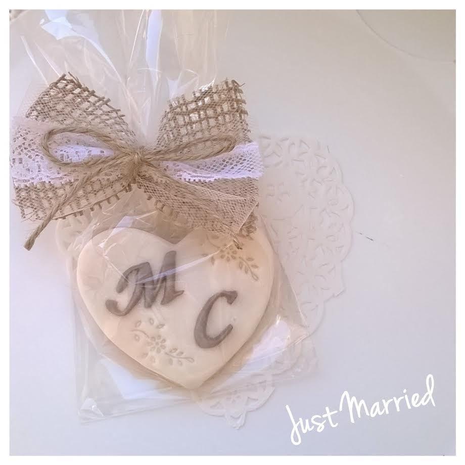 Segnaposto Matrimonio Biscotti.Biscotto Decorato Wedding Segnaposto Matrimonio Con Iniziali