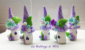 Miniatura Villaggio Fatine Viola Lilla, miniature, regalo per la casa, decorazioni