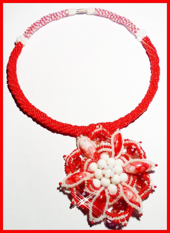 "Collana ""Passion flower"""