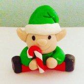 Statuetta decorativa elfo natalizio