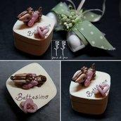 bomboniera fimo| bomboniera battesimo| bomboniera nascita| scatola porta confetti| bomboniera bambi fimo|