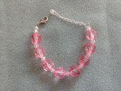 Braccialetto palline rosa