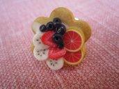 anello TORTA alla frutta con pompelmo in fimo
