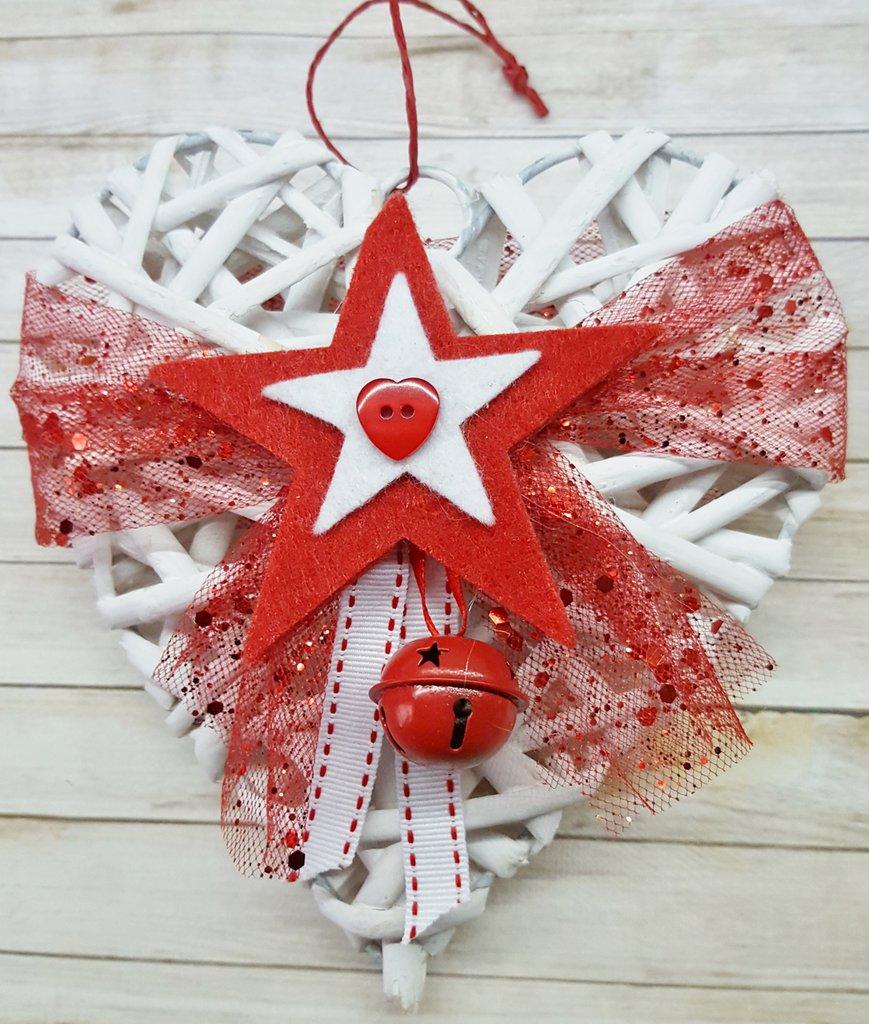 Cuore natalizio con Stelle