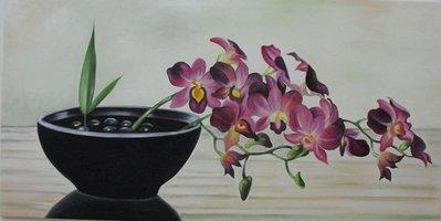 quadro dipinto ad olio raffigurante dei  tulipani