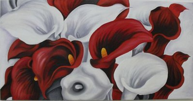 quadro dipinto ad olio raffigurante delle calle