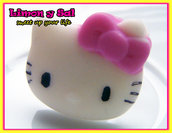 Cute hello kitty ring kawaii polimer clay fimo pink