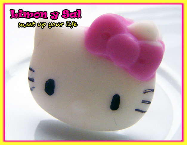 Cute hello kitty ring kawaii polimer clay fimo pink