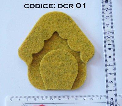 Fustellato Pannolenci Casetta DCR01P