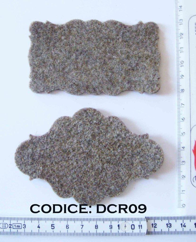 Fustellati Feltro targhette DCR09