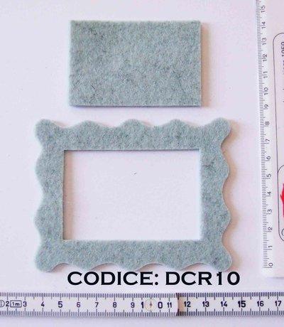 Fustellato Feltro Cornice DCR10