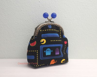 Portamonete con stampa Pac-Man
