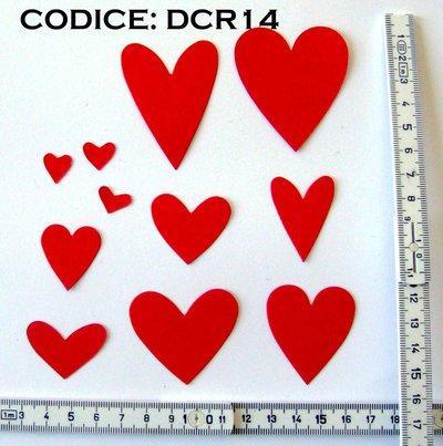 Fustellato Pannolenci Cuori DCR14P