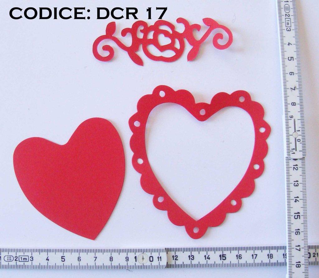 Fustellato Feltro Cuore + Cornice DCR17