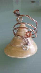 Bracciale semirigido fatto a mano due colori in alluminio