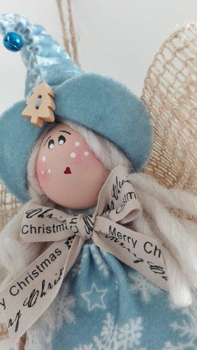 Ferma porta angelo Country shabby decorazioni natalizie e idea regalo