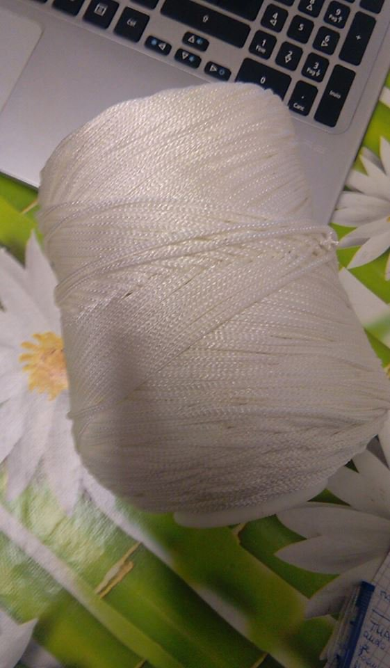cordino thai effetto seta  bianco