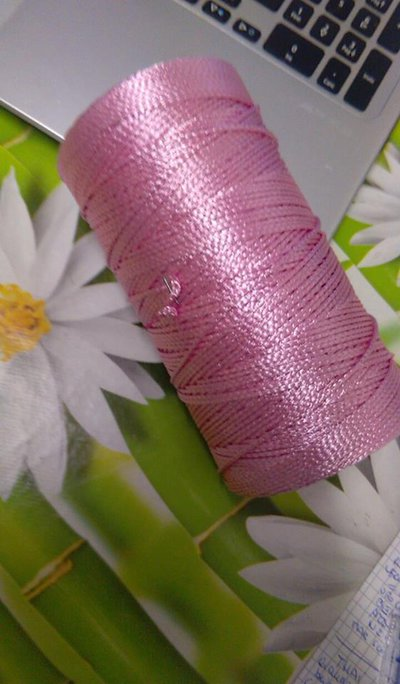 cordino thai effetto seta  rosa forte
