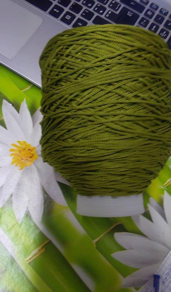 cordino thai effetto seta  verde pistacchio