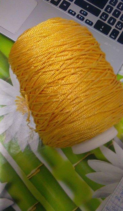 cordino thai effetto seta  giallo