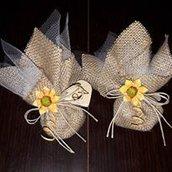 Sacchetti di confetti handmade per bomboniere