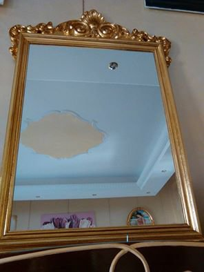 Specchio antico oro